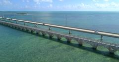 Slow motion Overseas Highway Florida Keys Stock Footage