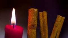 Cinnamon sticks stick spice spices Stock Footage