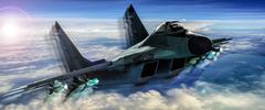 Tactical jet strike Stock Illustration