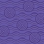 Abstract Aboriginal line painting in vector format. Stock Illustration