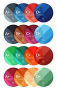 Set of round infographic banners with options Stock Illustration