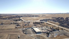 Aerial view of typical suburbia in Western United States in the Winter. Stock Footage