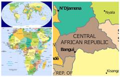 Central African Rep & Africa Stock Illustration