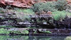 Circular pool in Dales Gorge Karijini NP Stock Footage