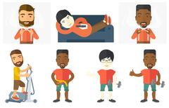 Vector set of sport characters Stock Illustration