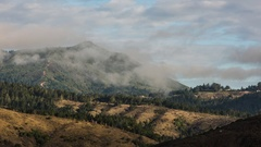 Moving Clouds over Mount Tamalpais Stock Footage