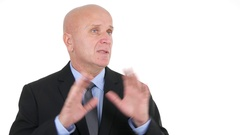Financial Director TV Interview Speaking About Sales Politics on Market Place. Stock Footage