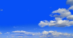 Cumulus Clouds Cloudscape Background. Sky only. Stock Footage
