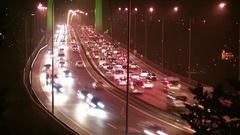 15 July Martyrs Bridge traffic timelapse Stock Footage
