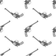 Pistol handgun security and military weapon Stock Illustration
