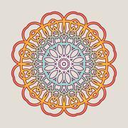 Vector vintage Mandala sign frame. Vintage decorative elements. Oriental pa.. Stock Illustration