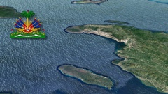 Artibonite-Haitian department with Coat Of Arms Animation Map Arkistovideo