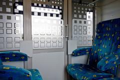 Interior of a slovenian train Stock Photos