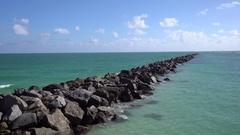 Amazing view of Atlantic ocean near Miami south beach, Florida. Stock Footage