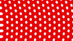 White polka dots on a red background wavy Stock Footage