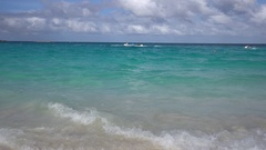 Beautiful beach in Nassau, Bahamas Stock Footage