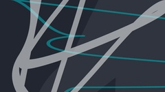 Fast changing curved chaotic overlapping wavy lines Stock Footage