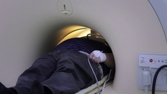 Man for a magnetic resonance examination Stock Footage