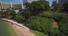 Condominiums and Hotels at Royal Cliff Beach, Pattaya, Thailand, Drone Footage Stock Footage