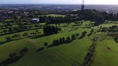 Aerial reveal of Dudley Golf Course. Stock Footage