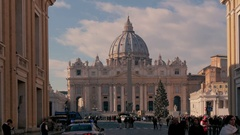 Piazza San Pietro, Rome, capital of Italy, in a beautiful sunny day Stock Footage