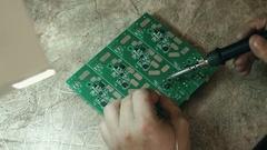Computer repair by engineer Stock Footage