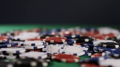 4K Hands of a poker player going all in, in slow motion Stock Footage