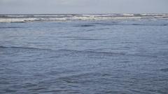 Ocean waves hitting the beach. Stock Footage