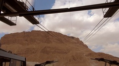 The cable car to Masada Stock Footage