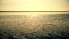 Water sparkles in sun forming a sun way Stock Footage
