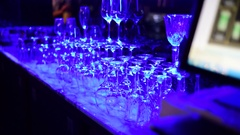 At the night bar Stock Footage
