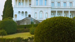 Landscape park in front of the palace Stock Footage