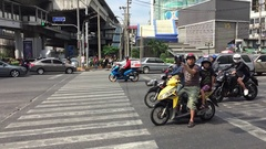 Bangkok Dec 17 2016 traffic on the main road Stock Footage