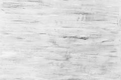 White soft wood surface old painted rough texture background Stock Photos