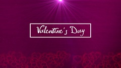 Valentines Day Text Background Stock Footage