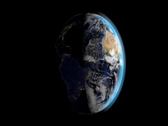 Day in night in planet earth Stock Footage