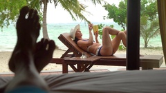 Relaxing in Thailand. Stock Footage