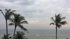 Hua Hin beach in Thailand Stock Footage