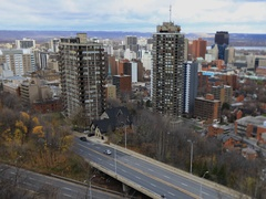 4K UltraHD Timelapse of Hamilton, Canada skyline with expressway Stock Footage