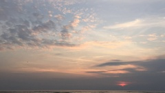 Sunrise timelapse in Hua Hin Stock Footage