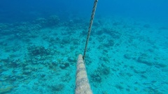 Entangled Ropes Ocean Buoy Stock Footage