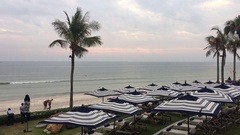 Timelapse of Hua Hin beach in Thailand Stock Footage