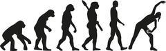 Aerobics Evolution Stock Illustration