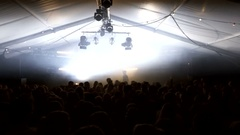 Massive lightshow during an EDM festival in the Netherlands - 4K Stock Footage