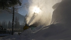 Working snow machines Stock Footage