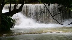 Waterfall Kuang Si, Luang Prabang,  Laos Stock Footage