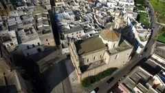 A church in an ancient town of Salento Shrine Stock Footage