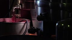 Devatting a bowl and marc of loading in the press, with marc pump. Stock Footage