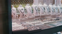 Showcase Store Jeweler Ornaments Stock Footage