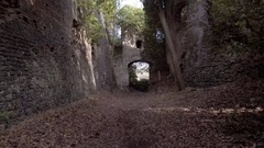 Etruscan ruins abandoned city Stock Footage